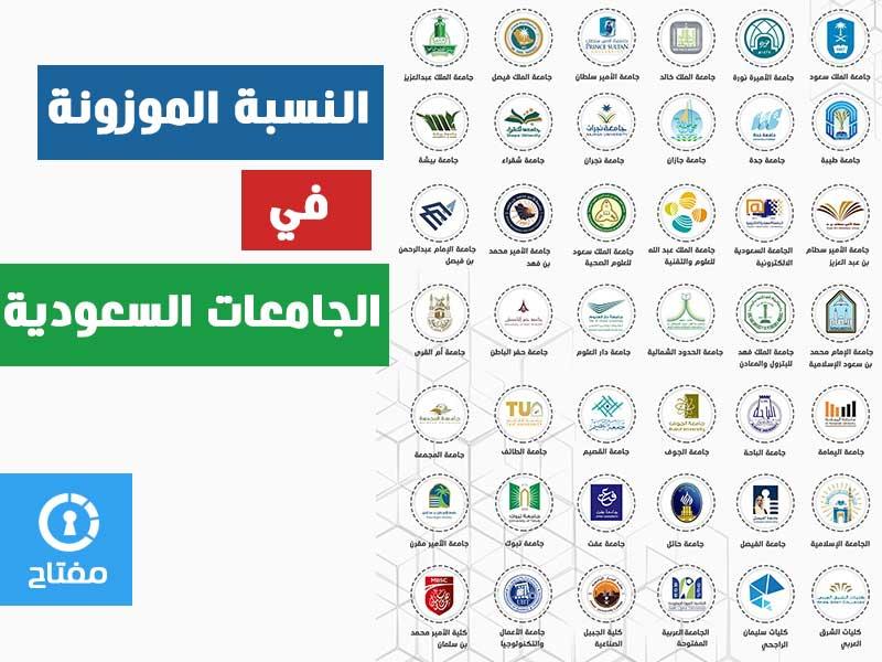 النسبة الموزونة في الجامعات السعودية